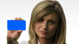 Young beautiful business woman holding files 6 Animation