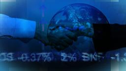 Business Handshake with Background Animation