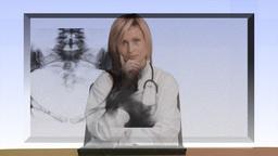 Female Nurse at work Footage