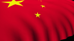 3d Render of the Chinese flag Footage