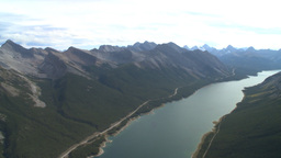 HD2009-9-33-24 aerial mountains and lake Stock Video Footage