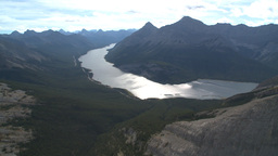 HD2009-9-33-36 aerial mountains and lake Stock Video Footage