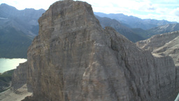 HD2009-9-33-38 aerial mountains and lake Stock Video Footage