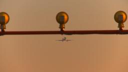 HD2009-9-35-2 triengine jet on finalhead on Z Stock Video Footage