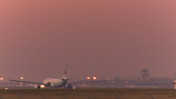 HD2009-9-35-10b A330 take off dusk Footage
