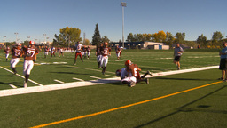 HD2009-9-36-4 high school football Stock Video Footage