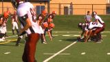 HD2009-9-36-6 High School Football TD stock footage
