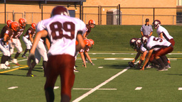 HD2009-9-36-6 high school football TD Stock Video Footage