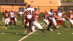 HD2009-9-36-6 high school football TD Stock Video Footage