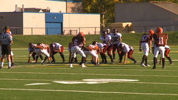 HD2009-9-36-8 high school football run tackle Stock Video Footage