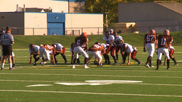 HD2009-9-36-8 high school football run tackle Footage