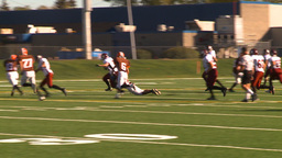 HD2009-9-36-8 high school football run tackle Stock Video Footage