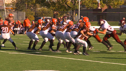 HD2009-9-36-10 high school football pass run tackle Footage