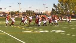 HD2009-9-36-10 high school football pass run tackle Stock Video Footage