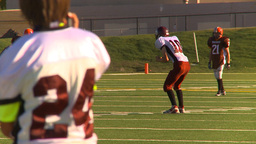 HD2009-9-36-16 high school football kickoff tackle fumble... Stock Video Footage