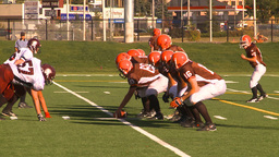 HD2009-9-36-18 high school football huddle pass Footage