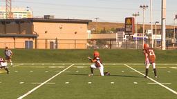 HD2009-9-36-20 high school football huddle kick convert Stock Video Footage