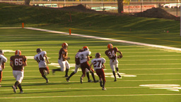 HD2009-9-36-26 high school football kickoff run td from... Stock Video Footage