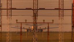 HD2009-9-36-28 B737 takeoff LL smoky sky landing lights Stock Video Footage