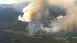 HD2009-9-37-14 Forest fire big flames aerial spectacular Stock Video Footage