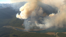 HD2009-9-37-14 Forest fire big flames aerial spectacular Footage