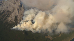 HD2009-9-37-18 Forest fire aerial Stock Video Footage