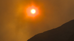 HD2009-9-38-7 smoky red sun Z Stock Video Footage