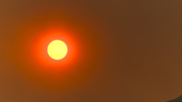 HD2009-9-38-11 smoky red sun Footage