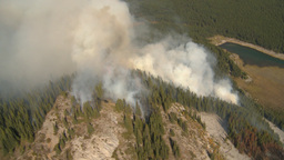 HD2009-9-39-11 forest fire aerial big ws Stock Video Footage
