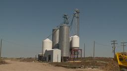 HD2009-9-41RC-6 farm seed bins Stock Video Footage