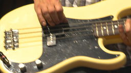 HD2009-9-9-4 rock band bassist Stock Video Footage