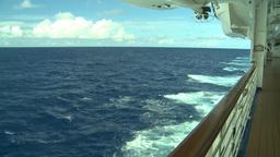 HD2008-8-11-1 ocean horizon promenade Stock Video Footage