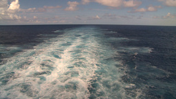 HD2008-8-11-7 ships wake Stock Video Footage