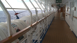 HD2008-8-11-11 promenade deck and sea Stock Video Footage