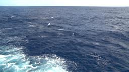 HD2008-8-11-13 ships wake Stock Video Footage