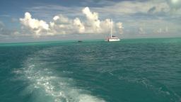 HD2008-8-12-13 cruising on water open ocean sailboat Stock Video Footage