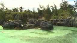 HD2008-8-12-21 in bay snorkelers Stock Video Footage