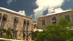 HD2008-8-12-35 Bermuda old buildings Stock Video Footage
