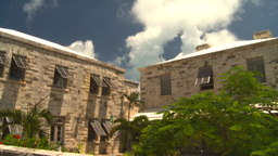 HD2008-8-12-35 Bermuda old buildings Stock Video Footage