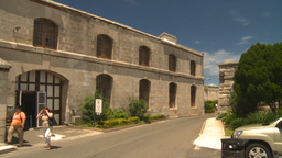 HD2008-8-12-37 Bermuda old buildings tourists Stock Video Footage