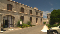 HD2008-8-12-37 Bermuda old buildings tourists Footage