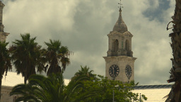 HD2008-8-12-39 Bermuda old clock tower Stock Video Footage