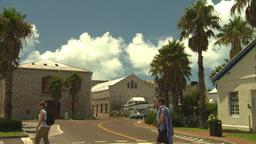 HD2008-8-12-41 Bermuda old town people Stock Video Footage