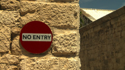 HD2008-8-12-47 Bermuda old town no entry Stock Video Footage