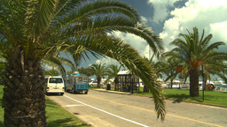 HD2008-8-12-51 Bermuda old town traffic Stock Video Footage