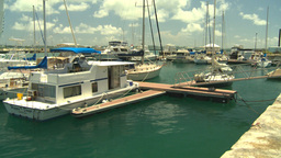 HD2008-8-12-53 Bermuda marina Stock Video Footage