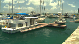HD2008-8-12-53 Bermuda marina Stock Video Footage