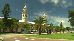 HD2008-8-12-59 Bermuda old town traffic clock tower Footage