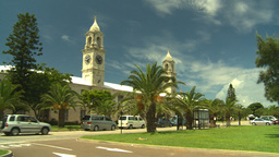 HD2008-8-12-59 Bermuda old town traffic clock tower Stock Video Footage