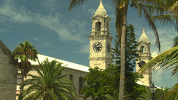 HD2008-8-13-3 Bermuda clock tower Stock Video Footage